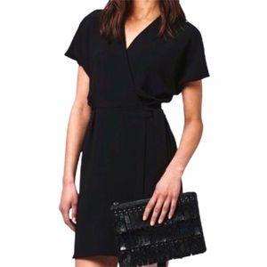 Zara Collection Size Med Black Wrap Dress V-Neck